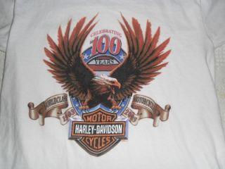 Harley Davidson T Shirt 100th Anniversary Clinton Township MI