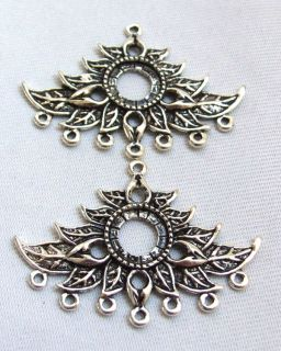 10pcs Antique Silver Plated Chandelier Earrings Finding