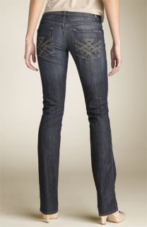 7 For All Mankind® Edie Low Rise Straight Leg Stretch Jeans (Fiji Wash)