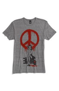 Obey Pin Up Girl Crewneck T Shirt (Men)