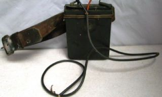 Vtg Coal Miners Coal Mining Safety Light Power Pack & Original Leather