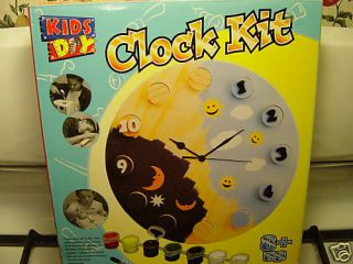 Kids Day Clock Kit with Working Clock Ages 8 2003 New