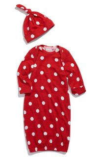Baby Nay Polka Dot Baby Gown & Hat (Infant)