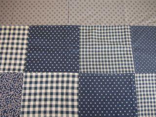 Black Brown Tan Patchwork Block Colfax Cloth Shower Curtain
