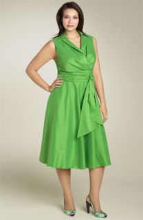 Suzi Chin for Maggy Boutique Sleeveless Wrap Dress (Plus)
