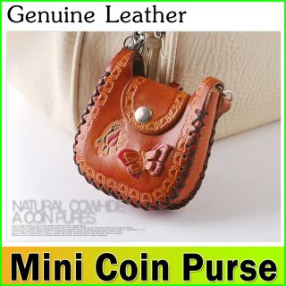 Coin Purse Genuine Leather Butterfly Design Handmade by Leather Master