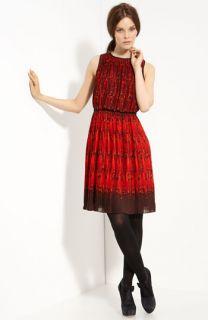Tibi Pleated Chiffon Dress