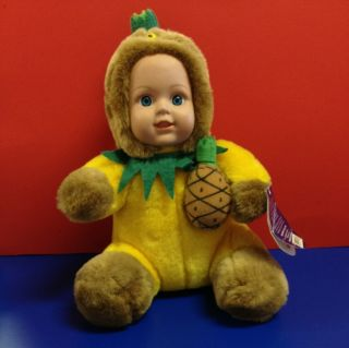 Collectible Kellytoy Baby Doll Special Creation Plush Pineapple Tag