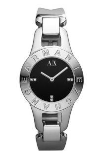 AX Armani Exchange Logo Bezel Watch