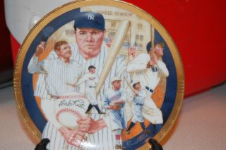 Babe Ruth Sports Impressions Plate The Hamilton Collection