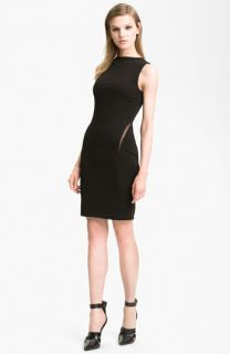 T by Alexander Wang Mesh Inset Sheath Dress