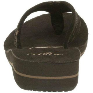 Cobian Tavi Womens Solid Flip Flops Sandals Shoes 7 Medium M Chocolate