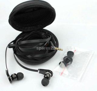 Black in Ear Earbud Headphone Earphones Headset Mic for  MP4 iPod