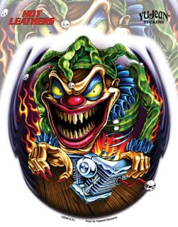 Harley Davidsion Decals Tank Killer Clown Bike Sticker