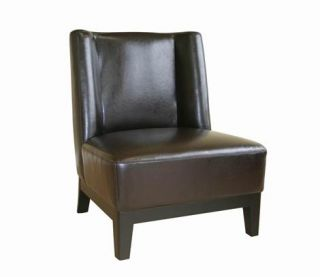 New Dark Brown 100 Italian Full Leather Club Chair A17