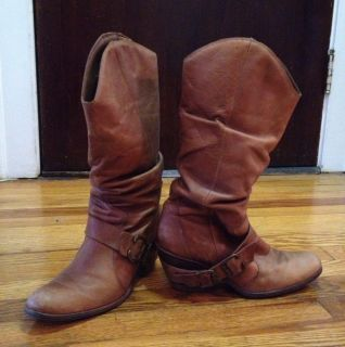 Coconuts Nelson Leather Western Boots Womens Size 9 5