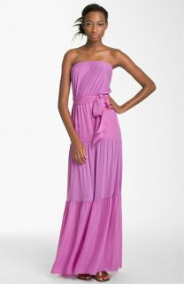Haute Hippie Strapless Tiered Maxi Dress