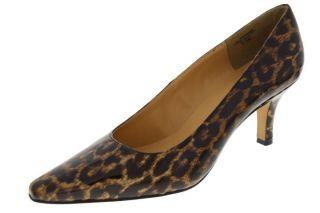 Karen Scott New Clancy Brown Leopard Print Patent Pumps Shoes 10 BHFO