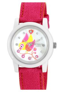 SPROUT™ Watches Bird Dial Organic Cotton Strap Watch, 38mm