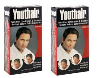 Mens Youthair Cream Color Preperation Removes Gray Hair 2 8 oz Bottle