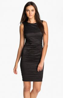 Nicole Miller Metallic Woven Sheath Dress