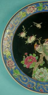 "ANTIQUE JAPANESE ARITA IMARI PORCELAIN ""PAIR OF BIRDS"" PLATE"