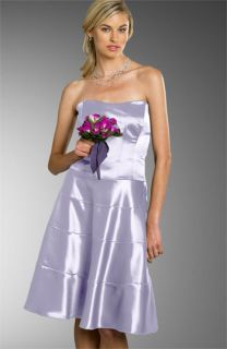 Nicole Miller Short Strapless Satin Dress