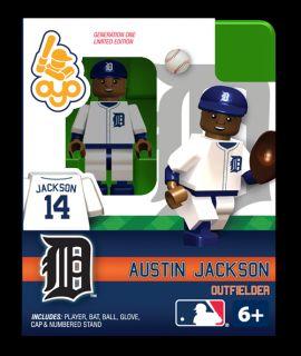 Austin Jackson Oyo Mini Fig Figure Lego Compatible Detroit Tigers NIP