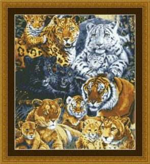 Big Cat Pride Cross Stitch Pattern Kustom Kraft