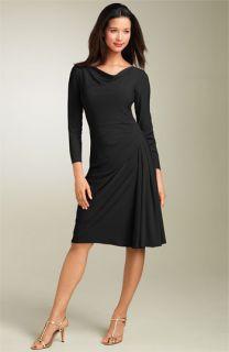 Maggy London Drape Neck Matte Jersey Dress