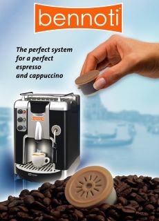 the bennoti system use prepacked coffee cartridges for best result and