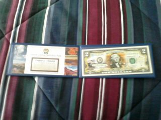 Commemorative Colorized Grand Canyon National Park $2 Two Dollar Bill