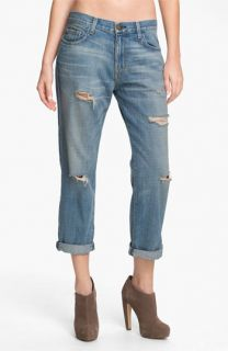 Current/Elliott The Boyfriend Jean Stretch Jeans (Super Loved Destroy)