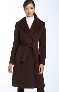 Calvin Klein Belted Angora Blend Coat