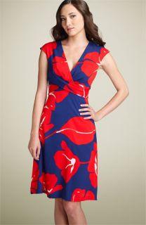 Donna Ricco Floral Tie Back Dress (Plus)