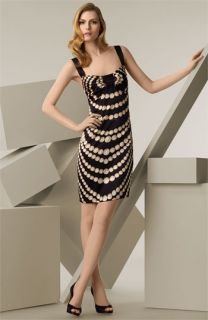 Roberto Cavalli Pearl Print Stretch Silk Jersey Dress