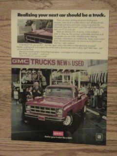 1978 Chevy Truck Advertisement Dealer Chevrolet GMC Ad