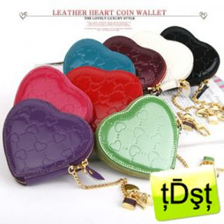 Leather Heart Coin Purse Wallet M704