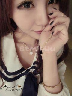 Fashion Korea Style Lovely Sweet Enamel Clover Love Heart Golden Alloy