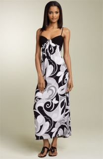 Maggy London Knot Front Maxi Dress