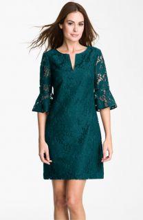 Adrianna Papell Ruffle Sleeve Lace Dress