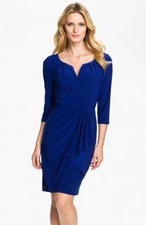 Adrianna Papell Side Drape Surplice Dress