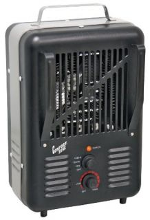 Comfort Zone CZ792BK Deluxe Milkhouse Electric Utility Heater, Black