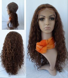 Lace Wig Remy Human Hair Wig 20 Long 4 Color Natural Curly