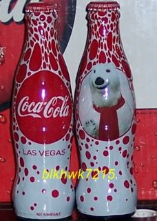 WORLD OF COCA COLA LAS VEGAS POLAR BEAR 8 OUNCE GLASS COCA COLA BOTTLE