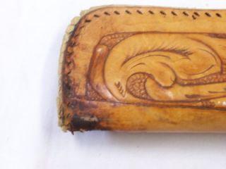 Vintage 2 Piece Leather Rifle Shot Gun Case Hand Tooled