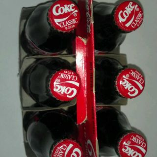 Coca Cola 3 Dale Earnhardt 6 Pack 8 oz Bottles Racing Family Case 1999