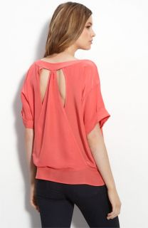 Myne Cutout Back Silk Blouse