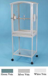 Acrylic Parrot Bird Cage Scallop Top Cockatiel Conure 21 5 x 18 5 x