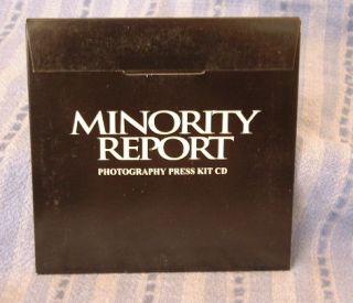 Minority Report Tom Cruise Colin Farrell Movie Digital CD Press Kit